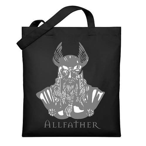 Odin - Viking - Design Grau  - Organic Jutebeutel
