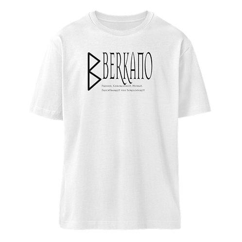 Rune - Berkano  - Schriftzug schwarz  - Organic Oversized Shirt ST/ST