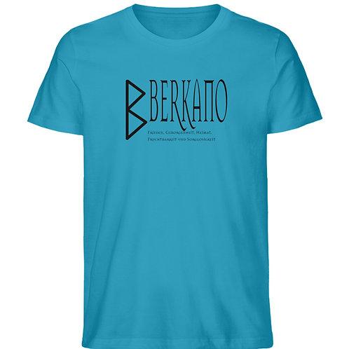 Rune - Berkano  - Schriftzug schwarz  - Herren Premium Organic Shirt