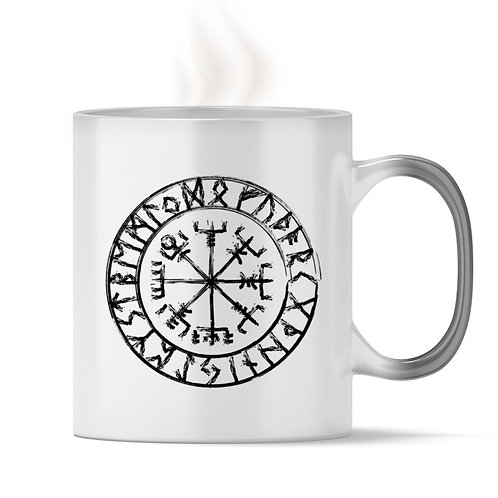 Vegvisir - Viking - Kompass  - Magic - Tasse