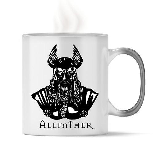 Odin - Viking - Design Schwarz  - Magic - Tasse