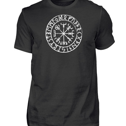 Vegvisir - Viking - Kompass - Runen  - Herren Shirt