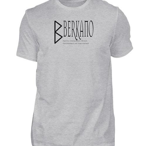 Rune - Berkano  - Schriftzug schwarz  - Herren Shirt