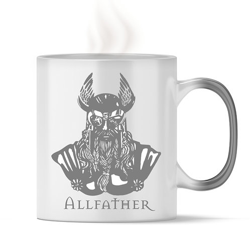 Odin - Viking - Design Grau  - Magic - Tasse