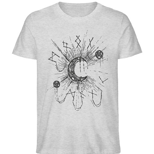 WICCA - MOON MAGIC  - Herren Organic Melange Shirt