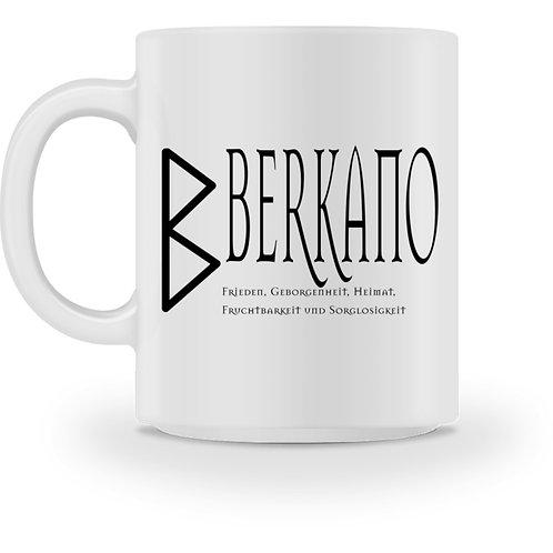 Rune - Berkano  - Schriftzug schwarz  - Tasse