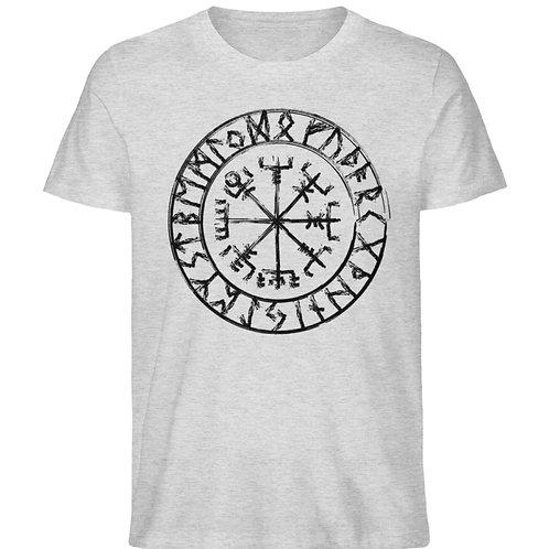 Vegvisir - Viking - Kompass  - Herren Organic Melange Shirt
