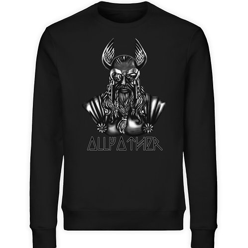 Odin - Vikings - Runen - Design Schwarz  - Unisex Organic Sweatshirt