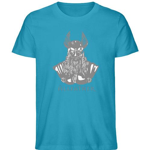 Odin - Viking - Design Grau  - Herren Premium Organic Shirt