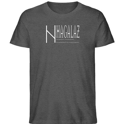 Rune - Hagalaz - Viking - Schriftzug  - Herren Organic Melange Shirt