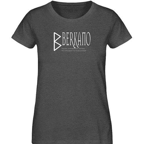Rune - Berkano - Schriftzug Weiß  - Damen Organic Melange Shirt