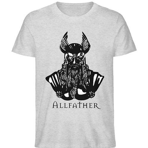 Odin - Viking - Design Schwarz  - Herren Organic Melange Shirt