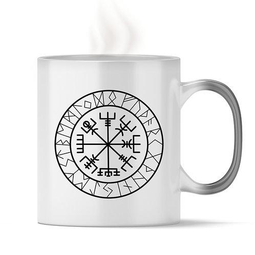 Vegvisir - Viking - Kompass  - Magic - Tasse