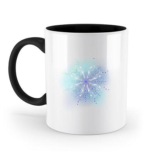 zauberhaftes Fairytail Mandala  - Zweifarbige Tasse