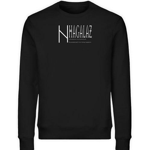 Rune - Hagalaz - Viking - Schriftzug  - Unisex Organic Sweatshirt