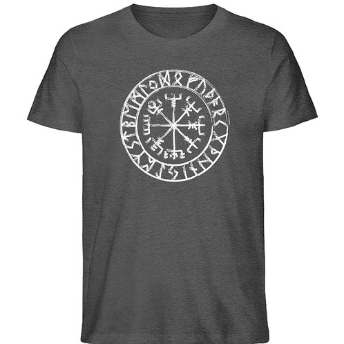 Vegvisir - Viking - Kompass - Runen  - Herren Organic Melange Shirt