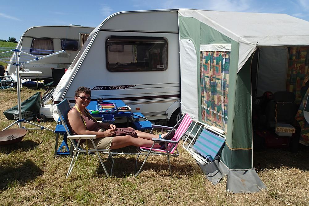 Deborah at leisure on a sunny Saturday