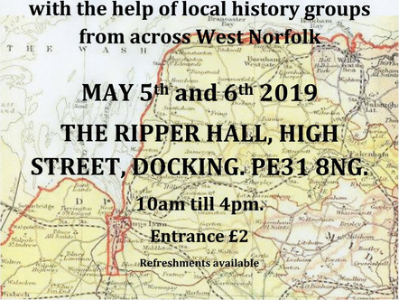 Docking Local History Fair - 5th to 6th May 2019