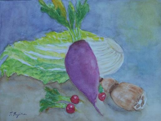 静物画を描く―野菜