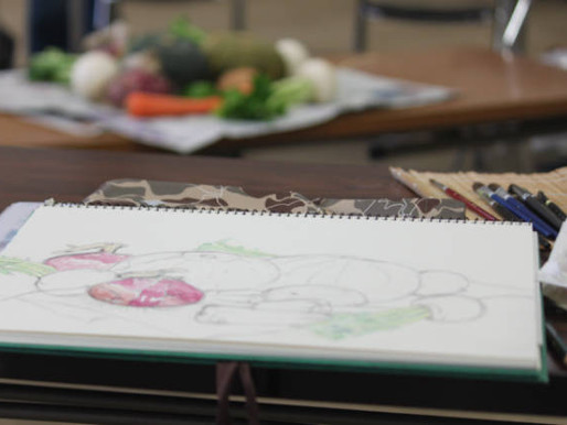 静物画―夏野菜を描く