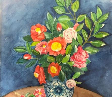 花を描く―椿