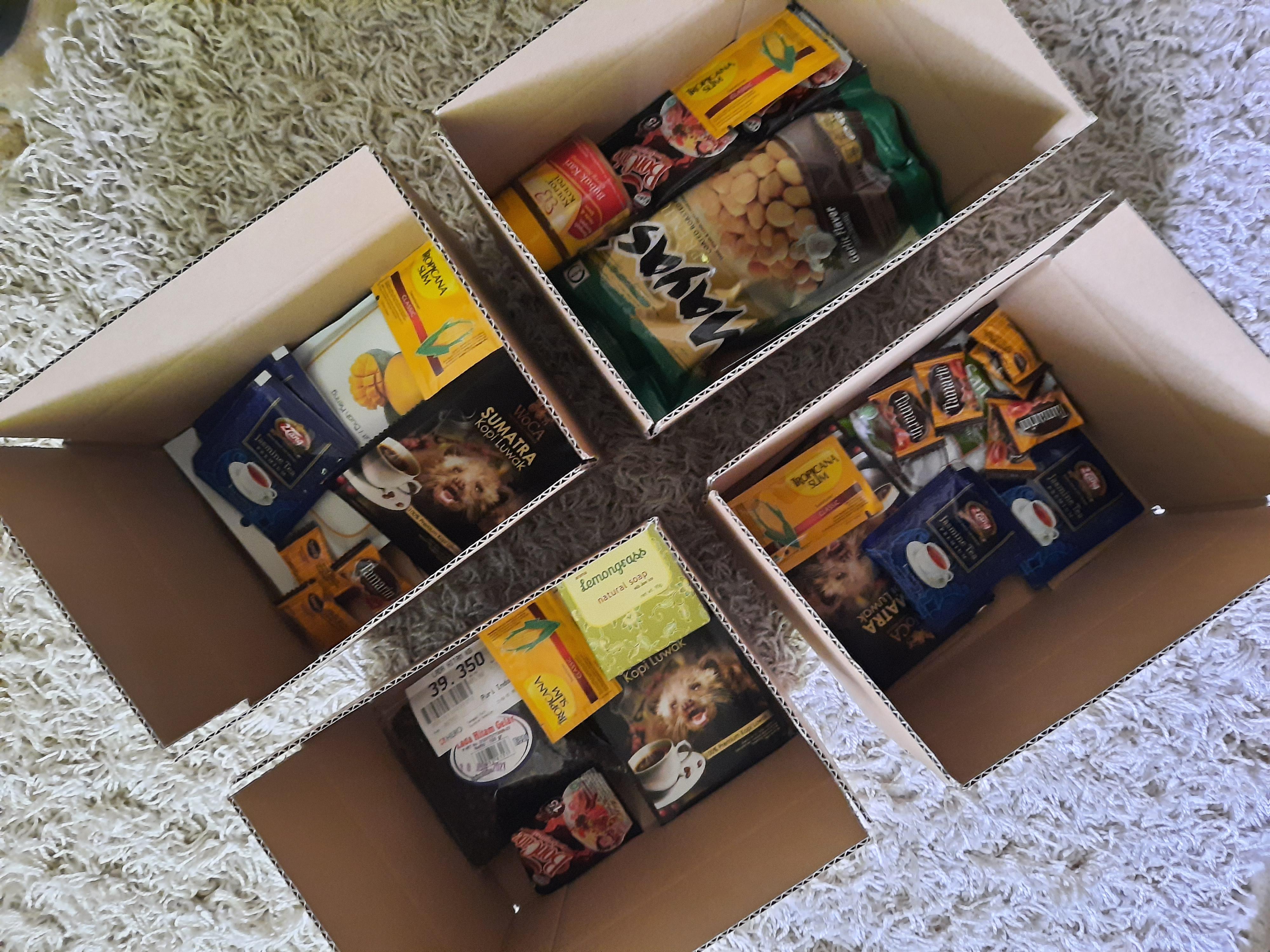 Gemischte Box aus Indonesien