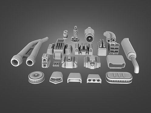 Air Intakes, Engines & Exhaust Pipes