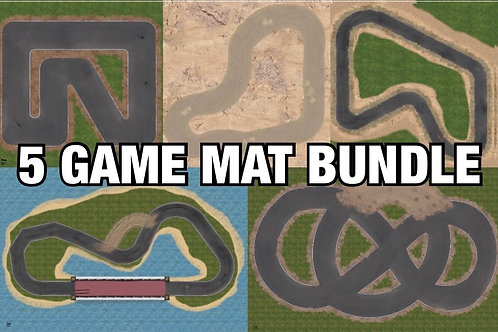 Classic Video Game Inspired Game Mats for Gaslands
