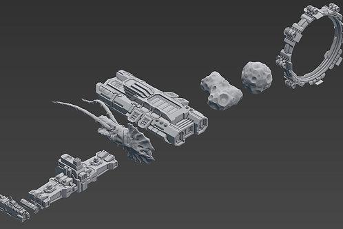 Civillan Ships, Aliens & Terrain