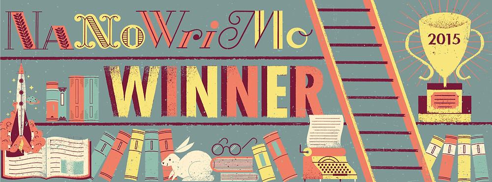 The NaNoWriMo Winner banner