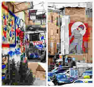 ציור קיר וגרפיטי, ואדי ניסנאס, חיפה . צילום: תמר גרינברג
