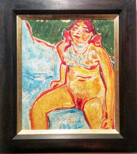 Seated Female Nude, 1914, Erich Heckel