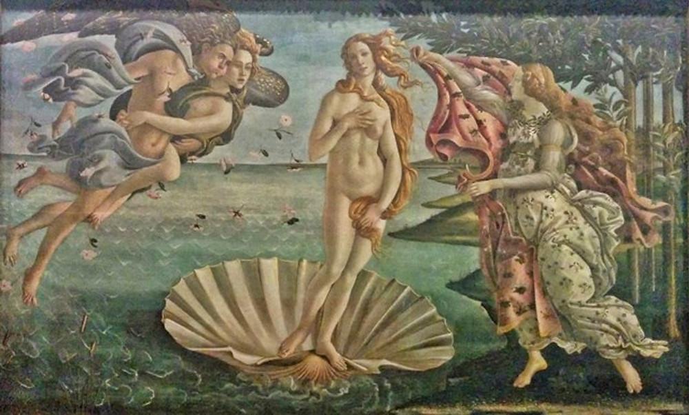 הולדתה של ונוס, סנדרו בוטיצ'לי, 1485–1486
