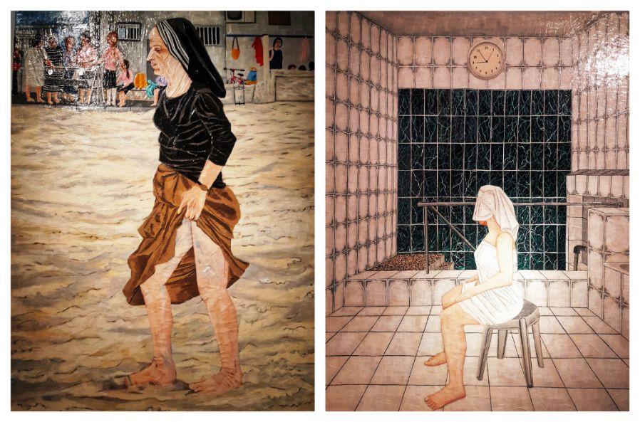 מימין: במקוה, הילה קרבלניקוב - פז   משמאל: ללא כתרת
