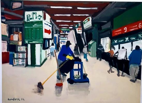 המנקה בתחנה המרכזית בתל אביב - אולגה קונדינה