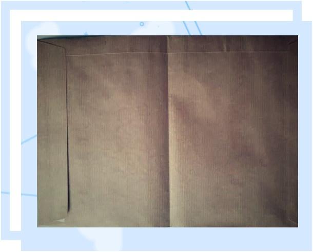 הכנת מחברת ממעטפה חומה