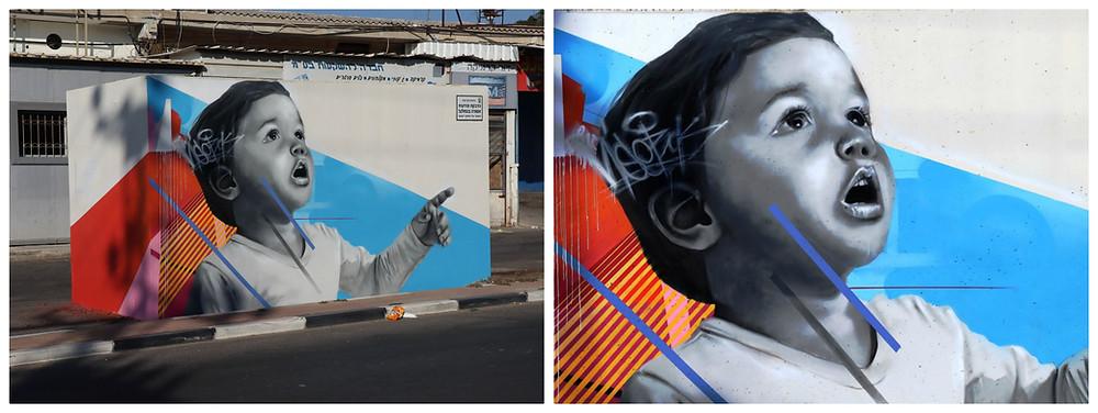 אמנות רחוב בשדרות Artist4Israel