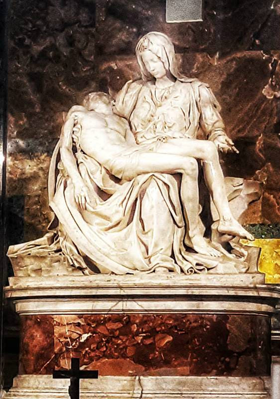 פייטה, מיכלאנג'לו, מוזיאון הותיקן ברומא צילום: תמר גרינברג