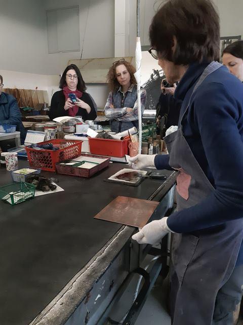 הדגמה של הדפס בסטודיו על שם גוטסמן