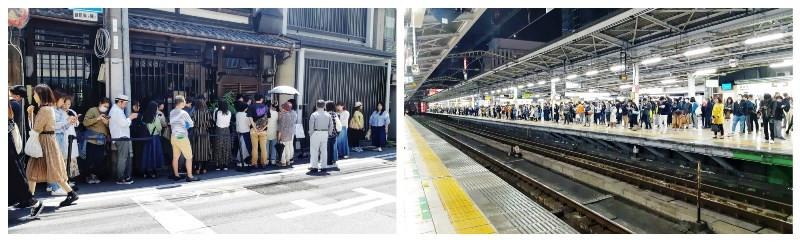 תורים לרכבת ולמסעדות ביפן