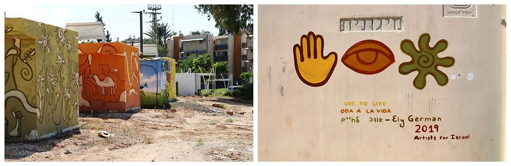 Artist4Israel מיגוניות בשדרות
