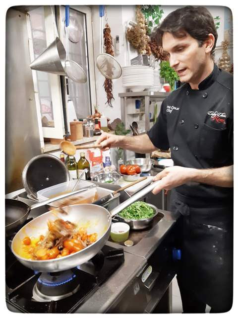 שף אנדראה קונסלי סדנת בישול ברומא