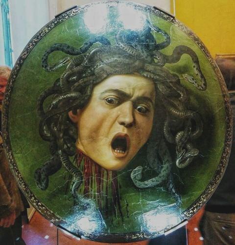 המדוזה -קראווג'יו, 1597 צילום: תמר גרינברג