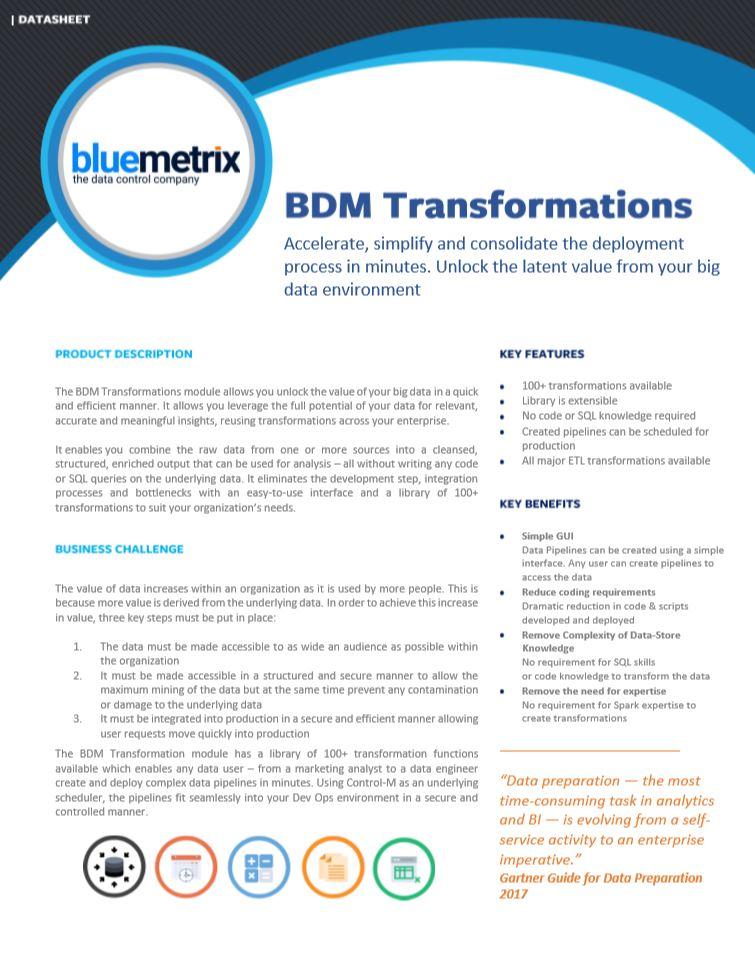 BDM Transformations Snippet