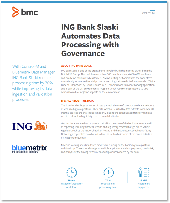 ING Bank Slaski Automates Data Processing with Governance