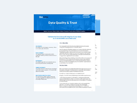 Improve Quality and Trust in Data