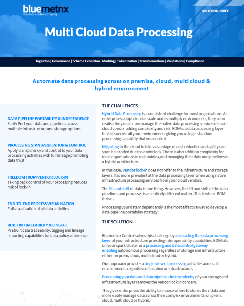 Multi-Cloud Data Processing with Automation