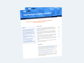 Data Pipeline Portability with BDM