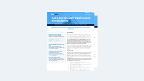 Data Governance Procedures Automation