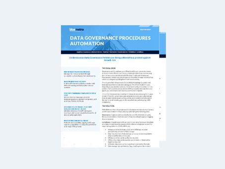 Data Governance Procedures Automation